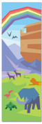 Children's Bible Story banner of Noah's Ark with Rainbow