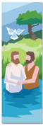 Bible Story banner for churches of Jesus' Baptism
