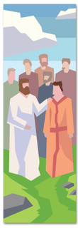 Bible Story Church Banner of Jesus with his disciples