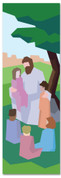 Bible Story banner of Jesus with children