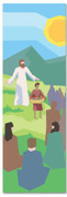 Kids' Bible Story banner of Jesus feeding 5000
