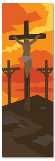 New Testament Bible Story banner of Jesus' Crucifixion