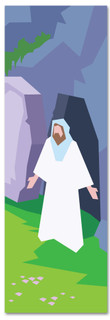 New Testament Bible Story banner of Jesus' Resurrection