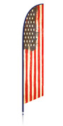 Vintage American flag - Patriotic feather banner