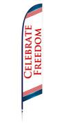 Patriotic banner - celebrate freedom, campaign design