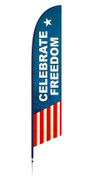 Patriotic freedom outdoor feather flag banner