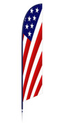 patriotic feather banner - red, white & blue