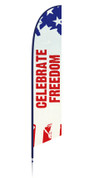 patriotic freedom feather flag banner