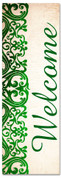 green victorian welcome banner