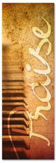 antiquated piano keys - church praise banner