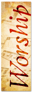 Musical notes worship banner