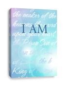 Soft blue canvas print for Christian churches