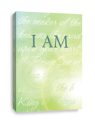 Light green Christian canvas print