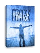 Praise Canvas Print in blue
