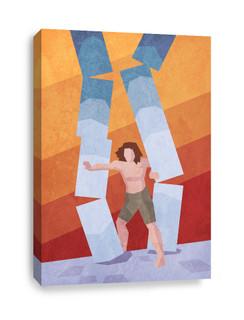 Samson brings down Pillars Canvas Print