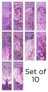 Purple Names of God church banner set of 10