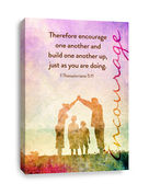 1 Thessalonians 5:11 Canvas print - Build one another up