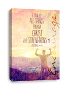 Philippians 4:13 Canvas print - I can do all things through Christ who strengthens me