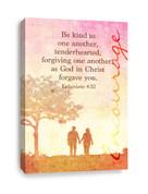 Ephesians 4:32 Be Kind canvas print