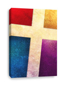 Multicolor Cross Canvas Print