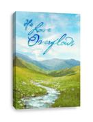 Stream canvas print - His Love Overflows