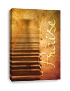 Piano Keys - Praise Canvas Print