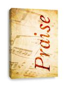 Classical music notes - Praise Canvas Print