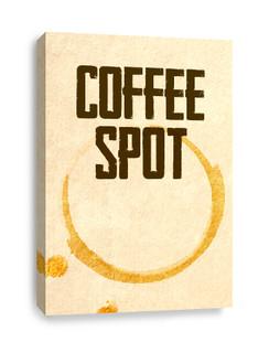 Coffee Spot Coffee Ring Canvas Print