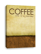 Coffee Canvas Print - Life is a Journey