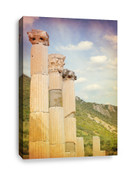 Canvas Print of Three Ancient Pillars