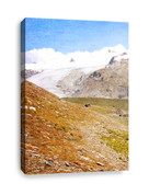 Snow Capped Mountains Canvas Print 1