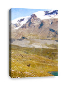 Snow Capped Mountains Canvas Print 2
