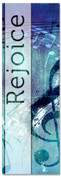 Christian Praise Banner - Blue musical notes on concrete