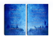 Blue Christian Canvas Prints - 2 pack - Child Is Born