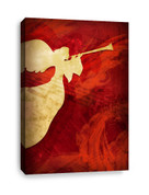 Angel Red - Christian Canvas Print - Left