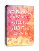 Christian Canvas Print - Your Word is lamp to my feet and light to my path (one canvas)