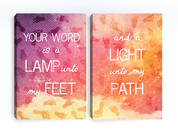 Christian Canvas Prints - Your Word is Lamp Unto My Feet and Light To Path