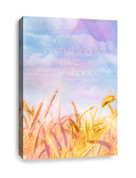 Church Harvest Canvas Print - In Everything Give Thanks
