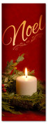 Christmas Holiday Candlelight - 3x8 Noel banner