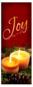 Holiday Candlelight banner - 3x8 Joy church banner