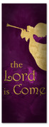 3x8 Royal Purple Holiday season banner - Lord is Come
