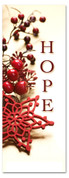 3x8 Holiday season church banner - Red and White Decorations