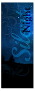 Blue Silent Night Christmas banner for church - 3x8ft