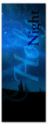 Blue Holy Night 3x8 Christmas banner for church