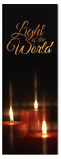 3x8 black candlelight Christmas banner for church - Light of the World