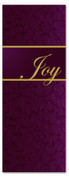 3x8 Christmas banner for church - Dark Magenta - Joy