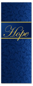 3x8 Christmas church banner - Blue - Hope