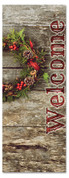 Welcome Christmas wreath - 3x8 holiday banner