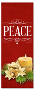 3x8 red Xmas banner for church - Peace