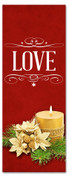 red 3x8 Christmas banner for churches - Love